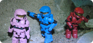 Pink, Blue, and Red Spartans Mark VI (Red ODST)